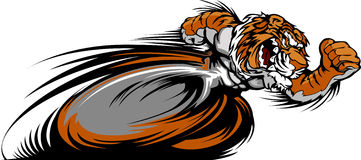 Racing Tiger Mascot Graphic Image Royalty Free Stock Images