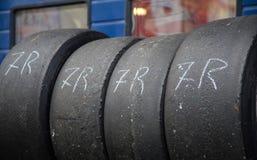 Racing tire stock photos