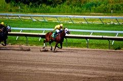 Racing to Victory Stock Image