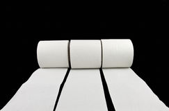 Racing Toilet Paper Stock Photography