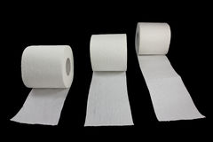 Racing toilet paper 2 Royalty Free Stock Photos