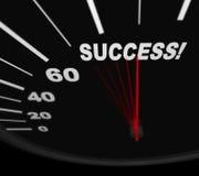 Racing Toward Success - Speedometer Stock Photography