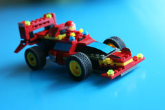 Racing Toy Car. Racing car toy made of blocks Stock Images
