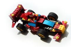 Racing Toy Car. Racing car toy made of blocks Royalty Free Stock Photo