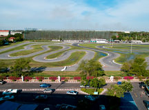 Racing track. Top view car racing track Stock Image