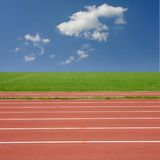 Racing track. With a blue sky royalty free stock images
