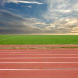 Racing track. With a blue sky stock photo