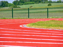 Racing track - closeup Stock Images