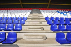 Racing Track Grandstand with empty seats Stock Photos