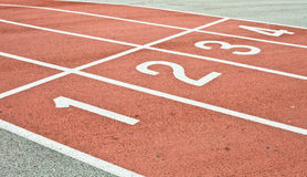 Racing track. Lanes of a racing track as a background image royalty free stock photos