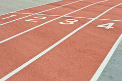 Racing track. Lanes of a racing track as a background image Stock Image