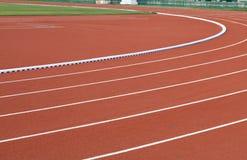Racing track. In the stadium Stock Photo