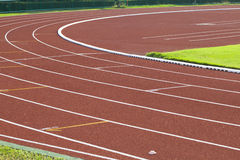 Racing track. In the stadium Royalty Free Stock Photos
