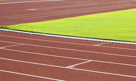 Racing track. In the stadium Royalty Free Stock Images