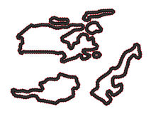 Racing Tracks Maps 4 Royalty Free Stock Image