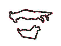Racing Tracks Maps 8 Royalty Free Stock Photos