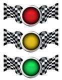 Racing traffic lights Royalty Free Stock Images