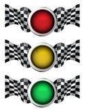 Racing traffic lights. Illustration Royalty Free Stock Images