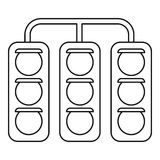 Racing traffic lights icon, outline style. Racing traffic lights icon. Outline illustration of racing traffic lights vector icon for web Stock Photos
