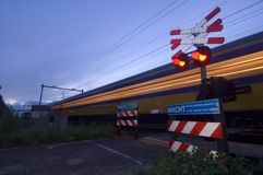 Racing train Royalty Free Stock Images