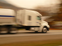 Racing Truck. A truck racing to its distant destination royalty free stock photography