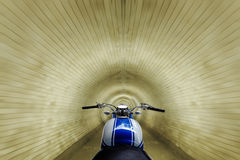 Racing in the tunnel Royalty Free Stock Photos