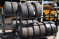 Racing tyres Stock Images