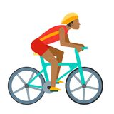 Racing vector bike people cyclist in action fast road biker  Royalty Free Stock Photography