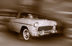 Racing vintage car Royalty Free Stock Photography