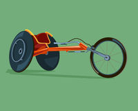 Racing wheelchair disabilities Royalty Free Stock Photography