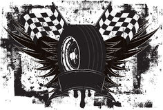 Racing Wings Insignia Stock Images