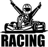 Racing winner - kart driver. Vector Royalty Free Stock Image