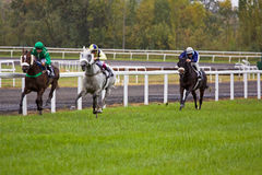 Racing for the Winning Post Stock Image
