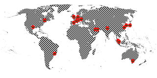 Racing World Tour Map Stock Photos