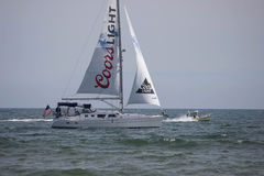 Racing Yacht Royalty Free Stock Photos
