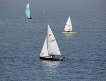 Racing yachts at regatta Stock Image