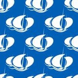 Racing yachts seamless pattern Stock Image