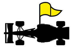 Racing yellow flag Royalty Free Stock Photos