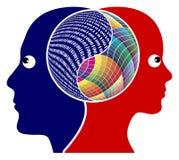 Racionalidad y creatividad Imagen de archivo libre de regalías