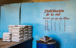 Racionamento cubano do alimento Foto de Stock