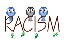 Racism. Twig text representing intolerance to minorities in society vector illustration