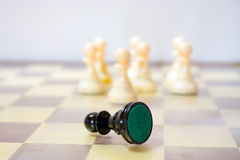 Racism. Metaphor of racism done with chess pawns royalty free stock image