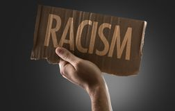 Racism on a conceptual image stock photography