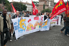 Racism demonstration in Rome, Italy Royalty Free Stock Image