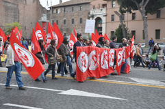 Racism demonstration on the streets of Rome Stock Photography