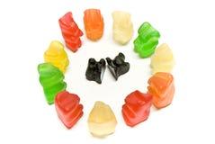 Racism gummy bears Stock Image