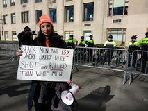 Racism and Gun Violence, March for Our Lives, Gun Control, NYC, NY, USA stock photography