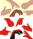 Racism - human hands Royalty Free Stock Image