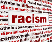 Racism humanity warning message concept Stock Photography