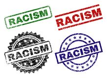 Grunge Textured RACISM Stamp Seals stock illustration